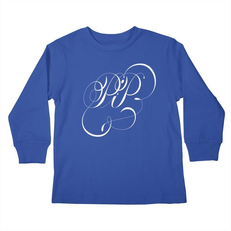 Poop In Peace Monogram Kids Longsleeve T-Shirt by kreasimalam's Artist Shop
