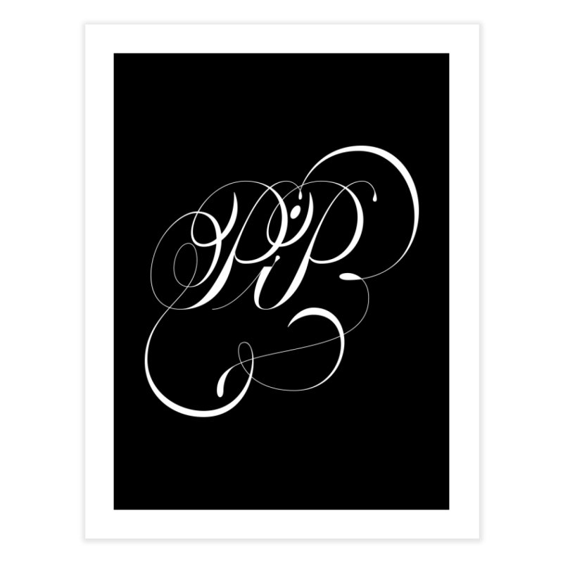 Poop In Peace Monogram Home Fine Art Print by kreasimalam's Artist Shop
