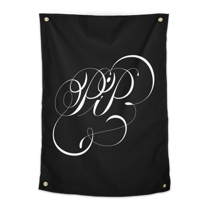 Poop In Peace Monogram Home Tapestry by kreasimalam's Artist Shop