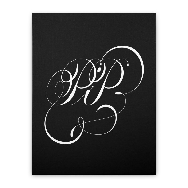 Poop In Peace Monogram Home Stretched Canvas by kreasimalam's Artist Shop