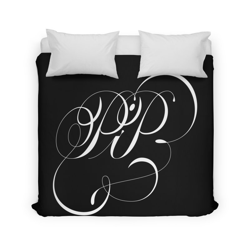 Poop In Peace Monogram Home Duvet by kreasimalam's Artist Shop