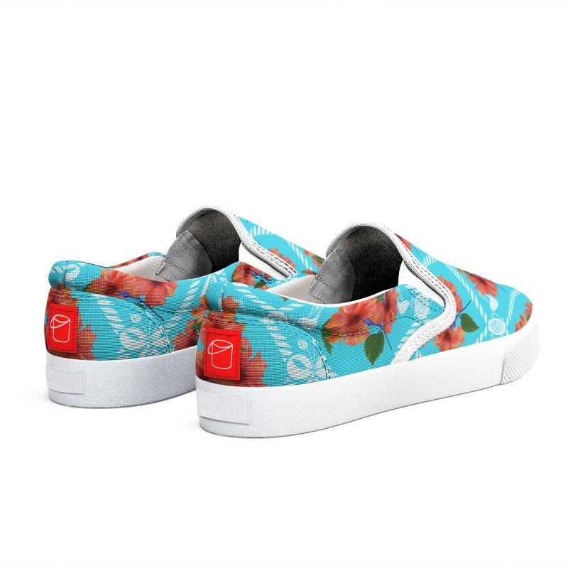 Bright flowers on light blue Women's Shoes by Kreativkollektiv Friedlos und Streitsüchtig
