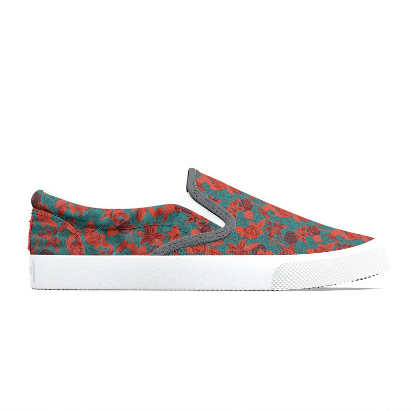Red roses and lilies Women's Shoes by Kreativkollektiv Friedlos und Streitsüchtig