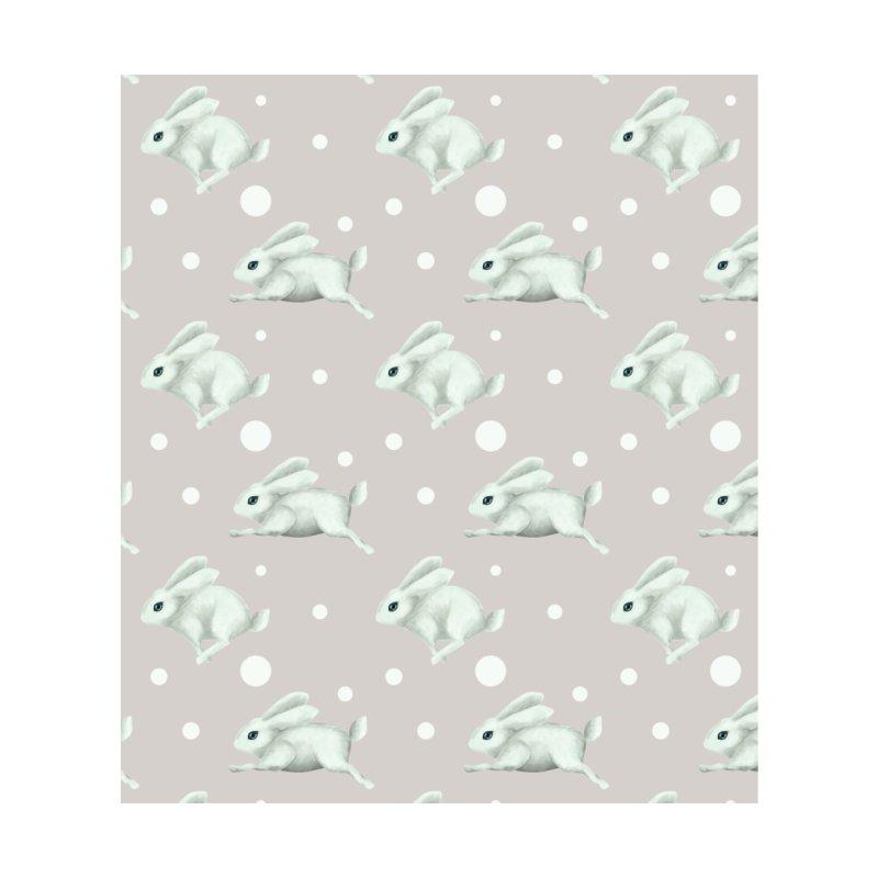 Cute white rabbit runs away Women's Cut & Sew by Kreativkollektiv designs