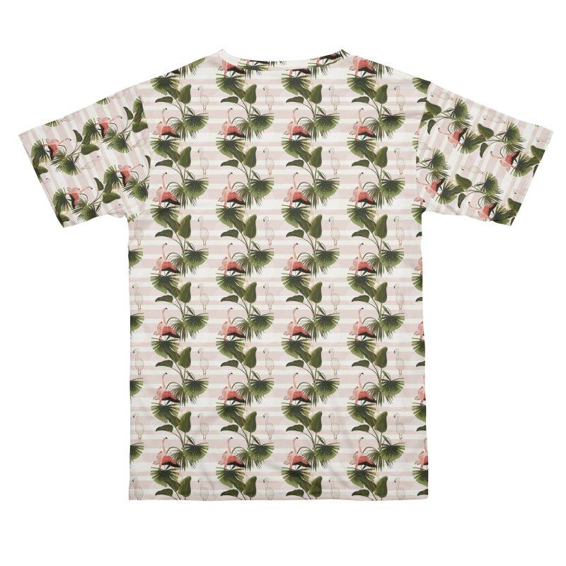 Flamingos and tropical leaves Women's Cut & Sew by Kreativkollektiv designs