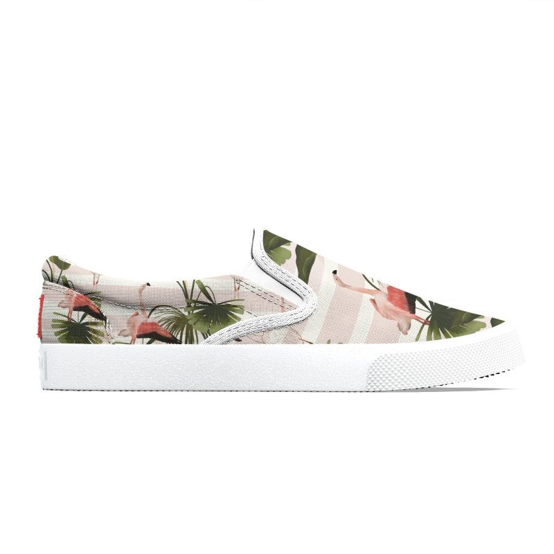 Flamingos and tropical leaves Women's Shoes by Kreativkollektiv Friedlos und Streitsüchtig