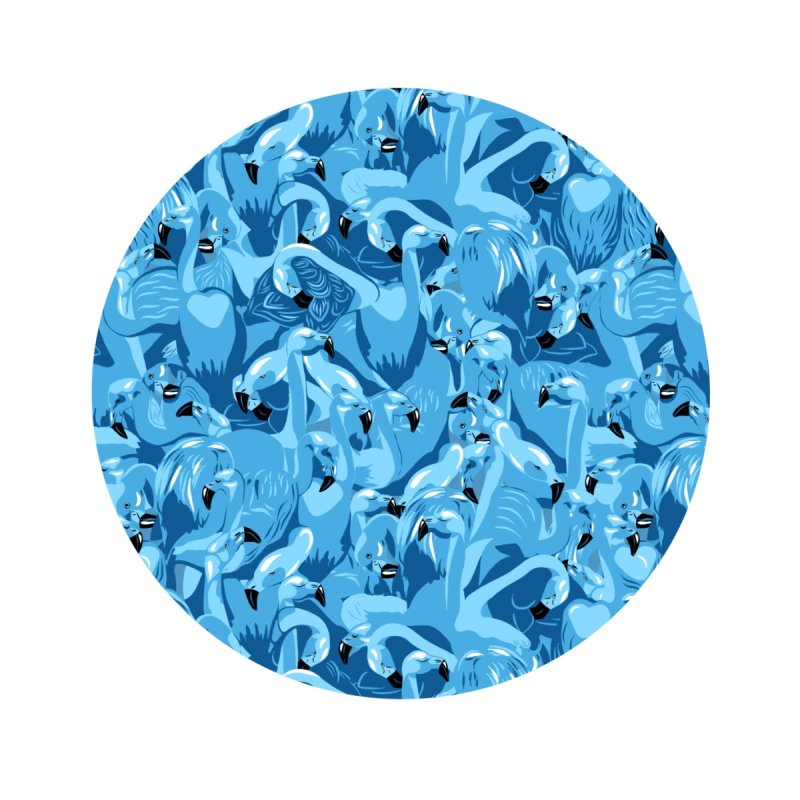Blue flamingo Accessories Face Mask by Kreativkollektiv Friedlos und Streitsüchtig
