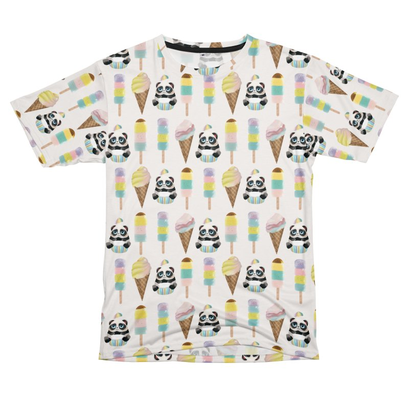 Ice cream,ice pops and cute panda Women's Cut & Sew by Kreativkollektiv Friedlos und Streitsüchtig