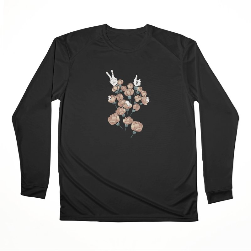 Flowers and hands Women's Longsleeve T-Shirt by Kreativkollektiv Friedlos und Streitsüchtig