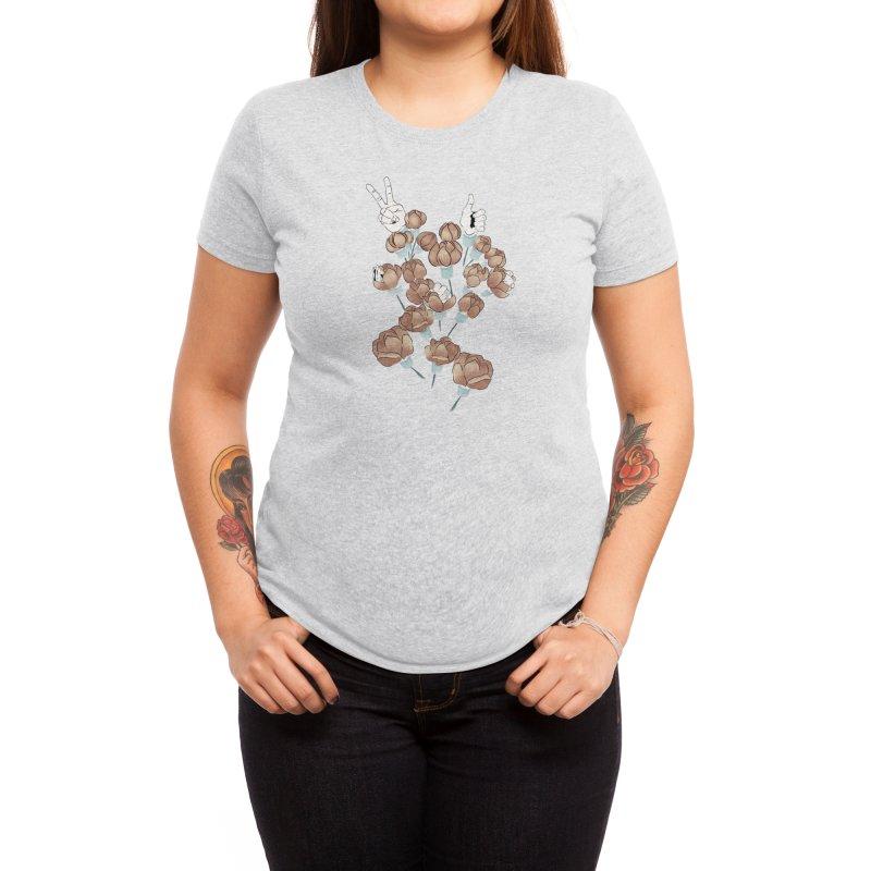Flowers and hands Women's T-Shirt by Kreativkollektiv Friedlos und Streitsüchtig