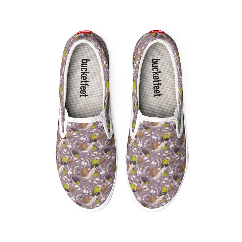 Cute forest plants and snails Women's Shoes by Kreativkollektiv Friedlos und Streitsüchtig