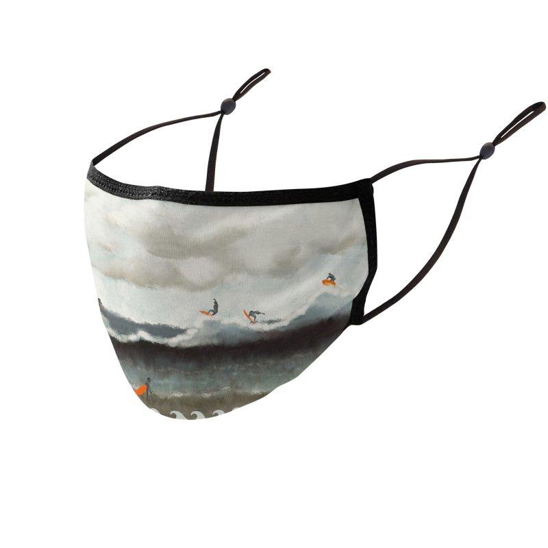 Abstract ocean surfer Accessories Face Mask by Kreativkollektiv designs