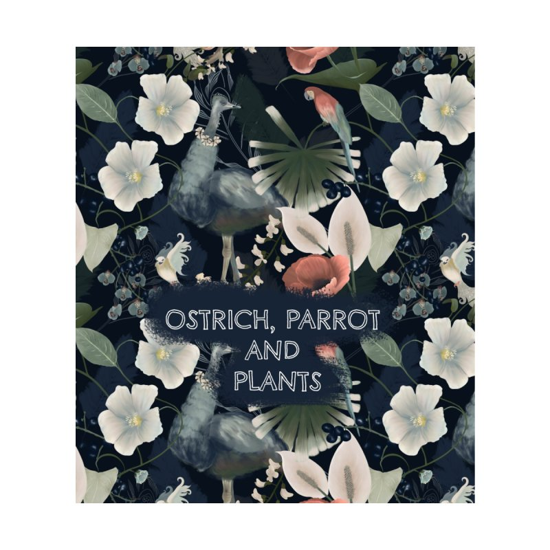 Ostrich, parrot and plants Women's Shoes by Kreativkollektiv designs