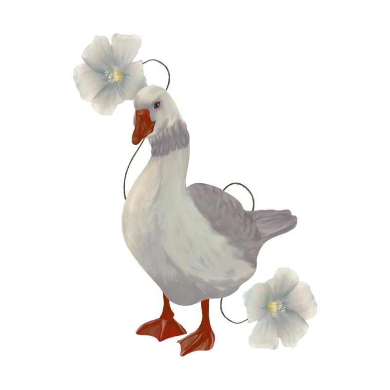 Cute goose and flowers Women's T-Shirt by Kreativkollektiv designs