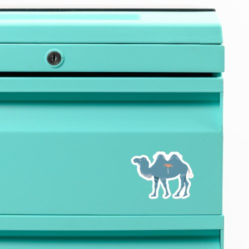 image for Light blue camels on pink
