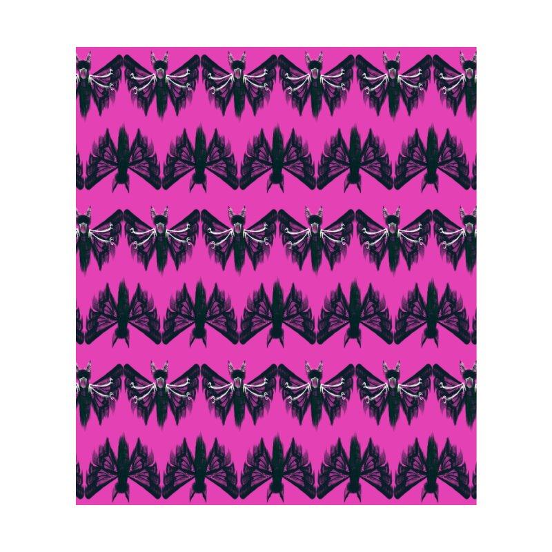 Black moth on pink Accessories Face Mask by Kreativkollektiv designs