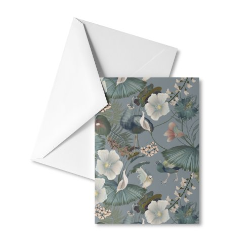 image for Blue fantasy flora and birds