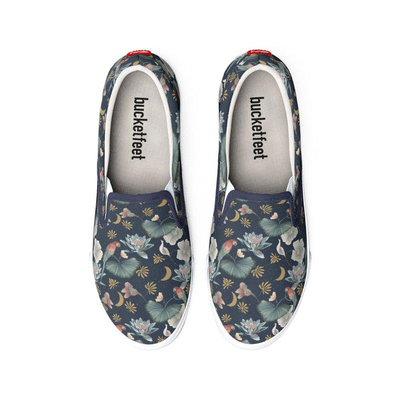 Lotus and fantasy flora by night Women's Shoes by Kreativkollektiv Friedlos und Streitsüchtig