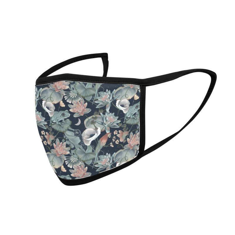 Tropical flora and fauna by night Accessories Face Mask by Kreativkollektiv designs