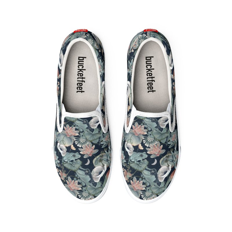 Tropical flora and fauna by night Women's Shoes by Kreativkollektiv designs