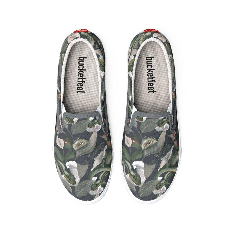 Green snakes and beautiful flora Women's Shoes by Kreativkollektiv Friedlos und Streitsüchtig