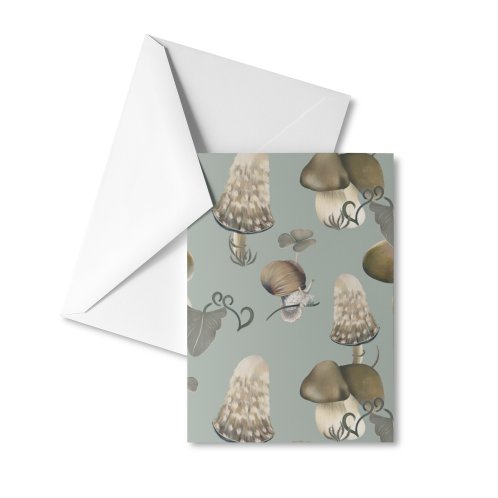 image for Forest mushrooms and snails