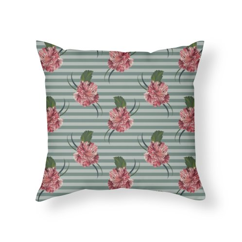 image for Hibiscus and light blue stripes