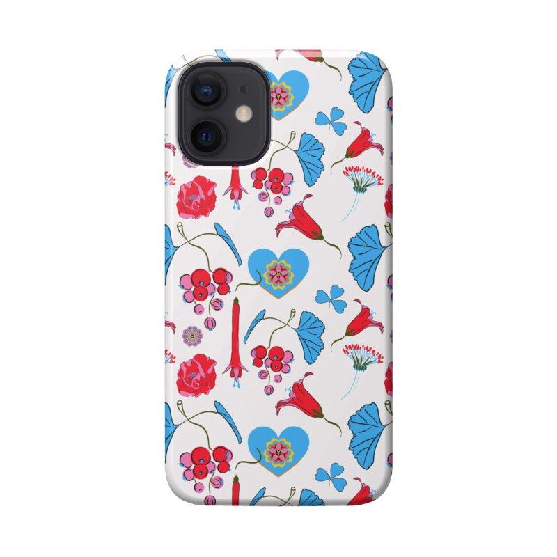 Bright flora and a blue heart Accessories Phone Case by Kreativkollektiv designs