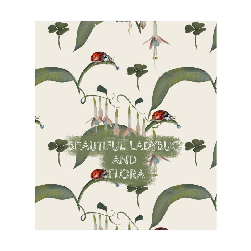 Beautiful ladybug and flora Accessories Neck Gaiter by Kreativkollektiv designs