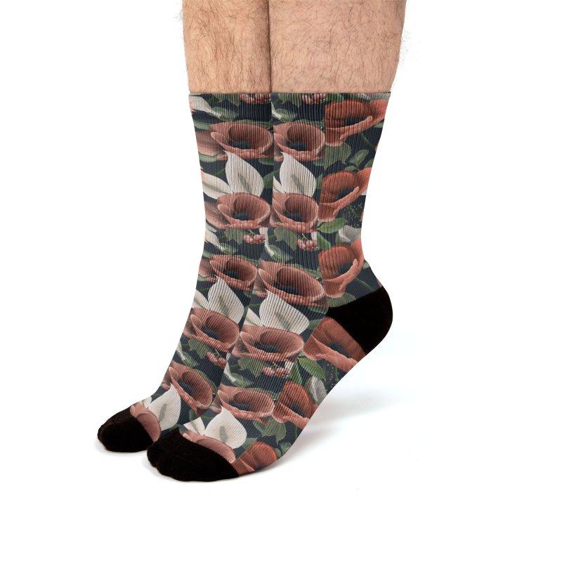 Huge field poppy Men's Socks by Kreativkollektiv designs