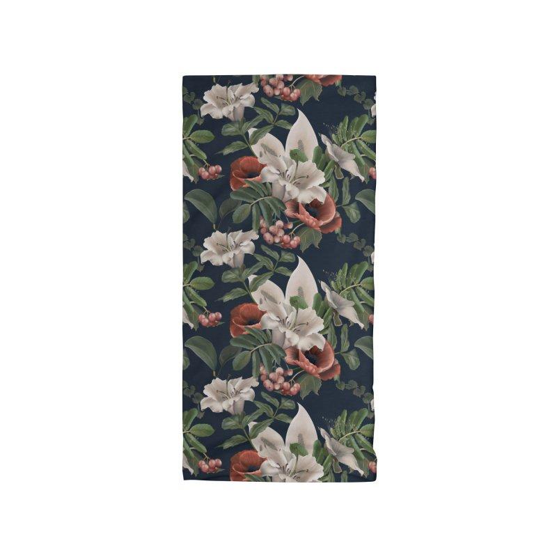 White lily flower and field poppy Accessories Neck Gaiter by Kreativkollektiv designs