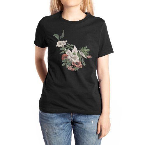 image for White lily flower and field poppy