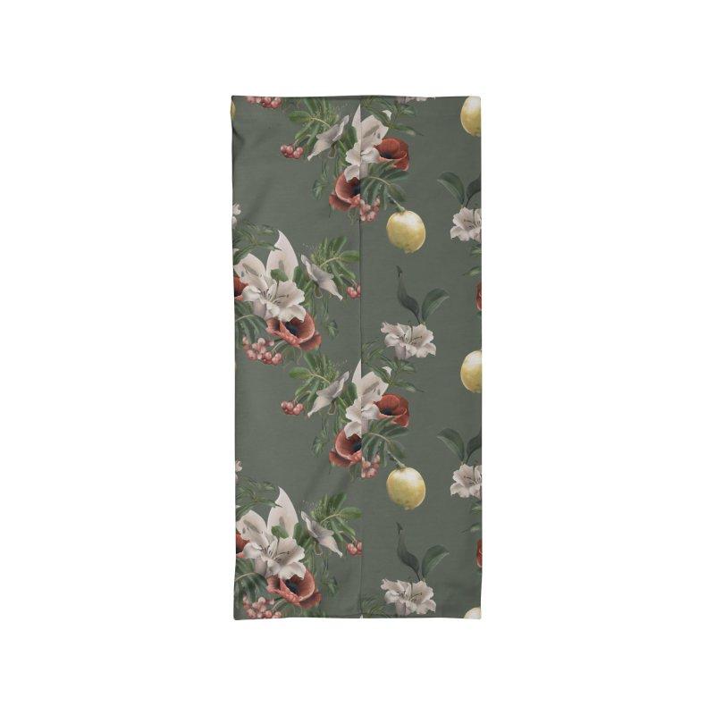 Lemon and beautiful flora Accessories Neck Gaiter by Kreativkollektiv designs