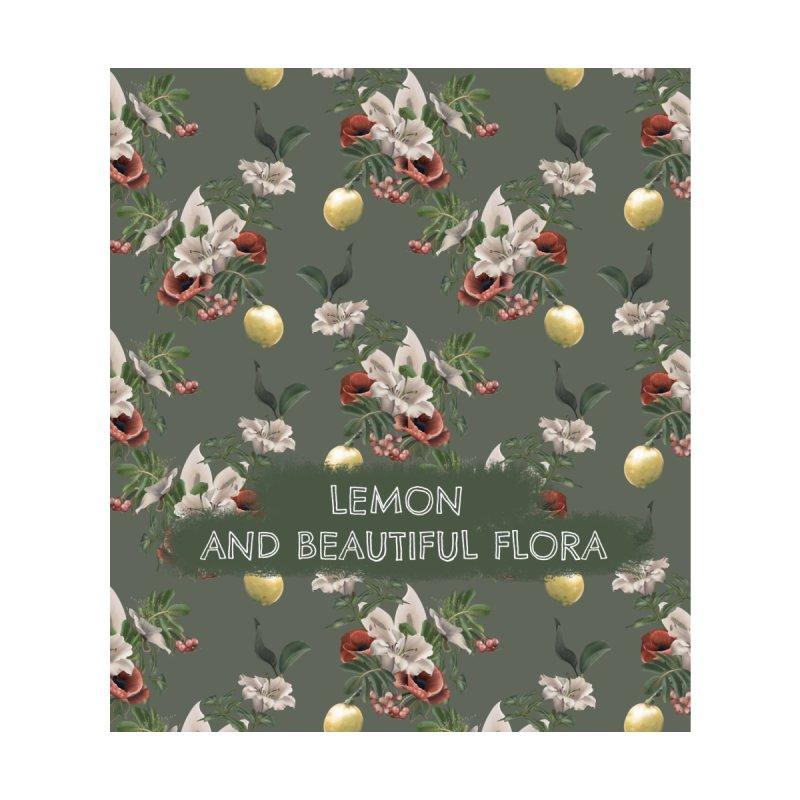 Lemon and beautiful flora Accessories Zip Pouch by Kreativkollektiv designs