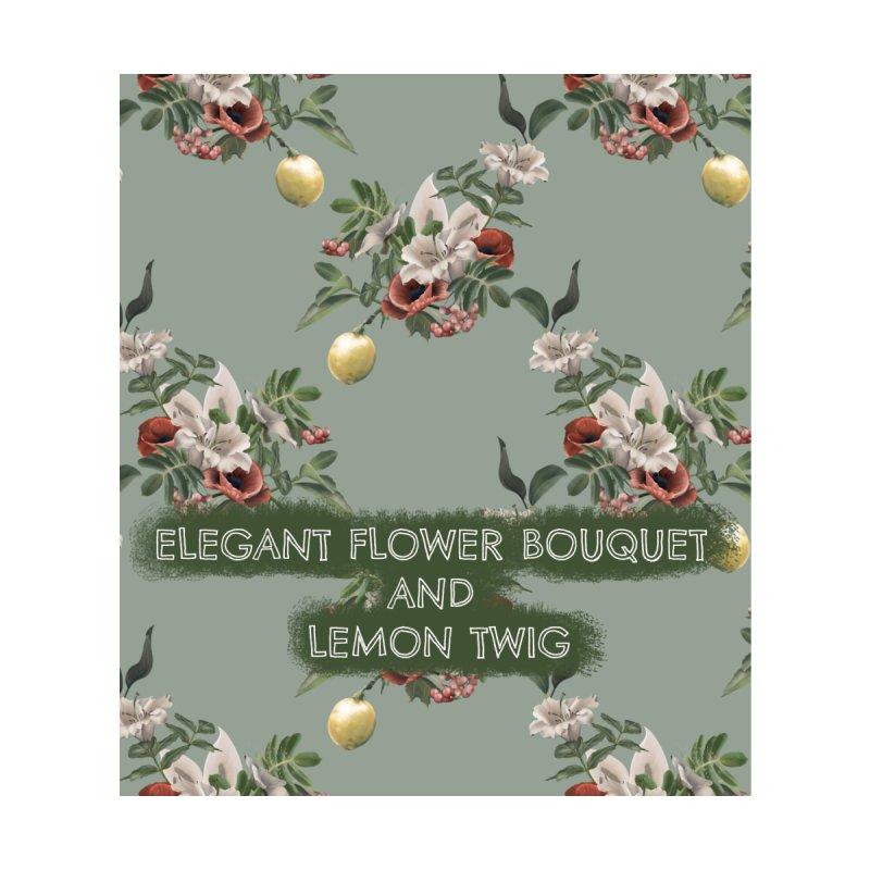 Elegant flower bouquet and lemon twig Accessories Neck Gaiter by Kreativkollektiv designs