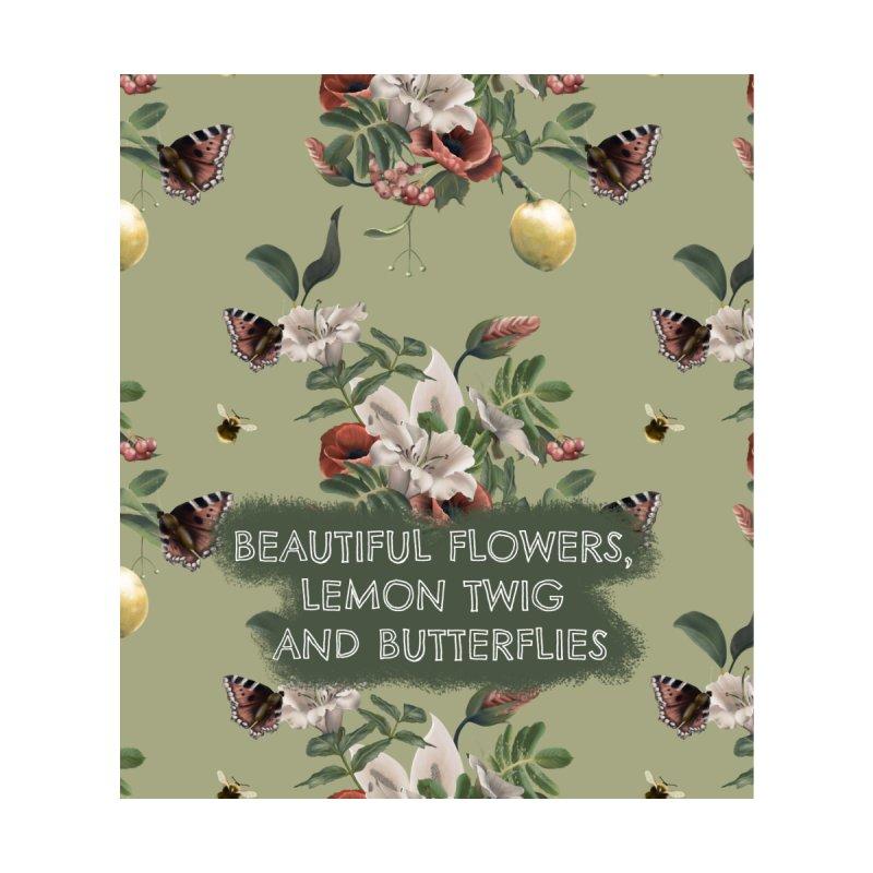 Beautiful flowers, lemon twig and butterflies Accessories Neck Gaiter by Kreativkollektiv designs