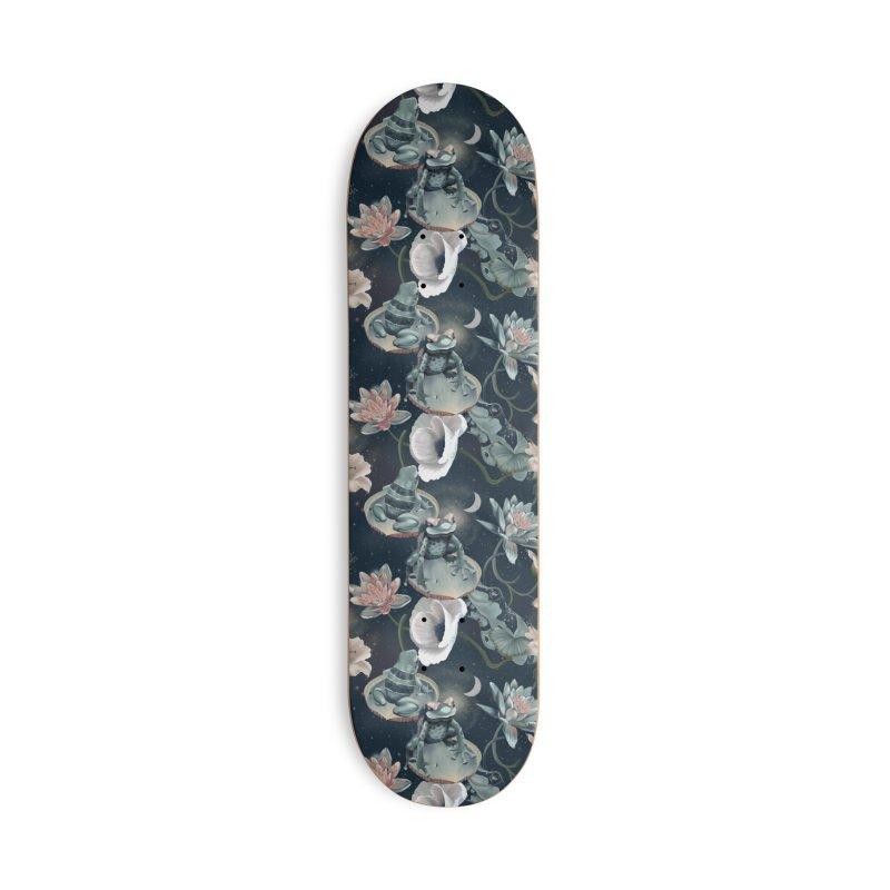 Friendly frogs and night sky Accessories Skateboard by Kreativkollektiv designs