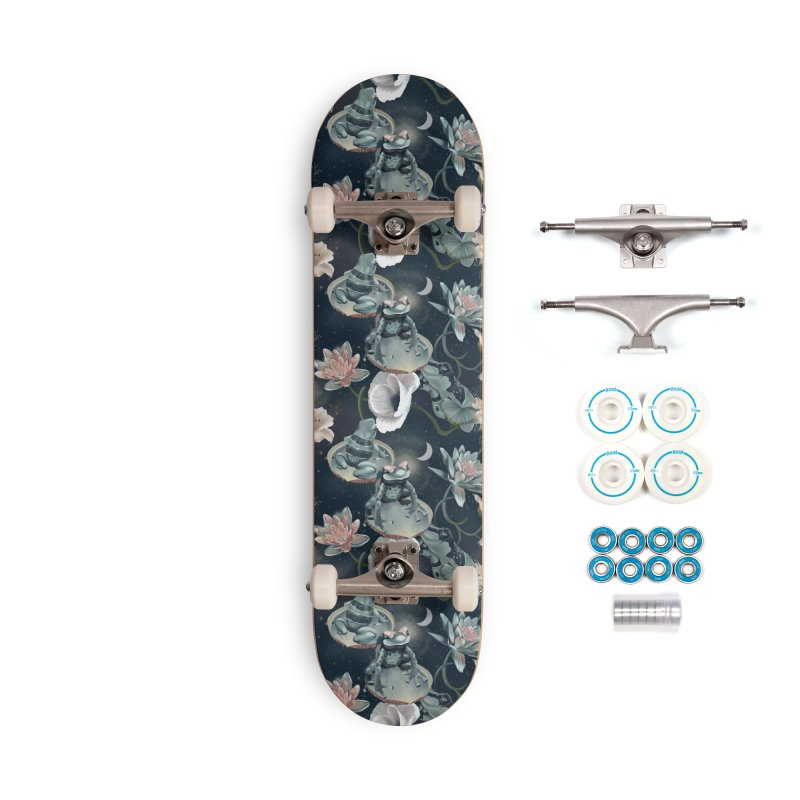 Friendly frogs and night sky Accessories Skateboard by KreativkDesigns Artist shop