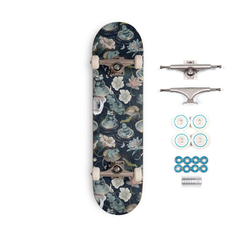 A fascinating world of blue frogs Accessories Skateboard by KreativkDesigns Artist shop