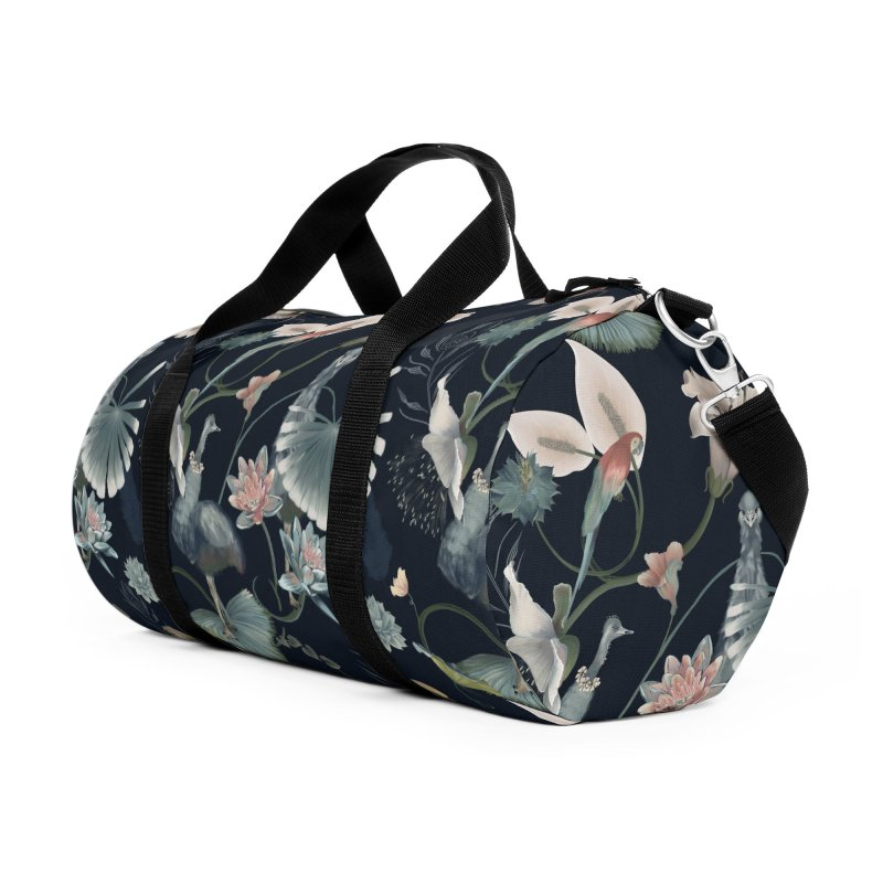 Ostriches and fantasy flora Accessories Bag by Kreativkollektiv designs