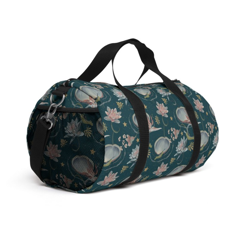 Exotic flowers in blue and pink at night Accessories Bag by Kreativkollektiv designs
