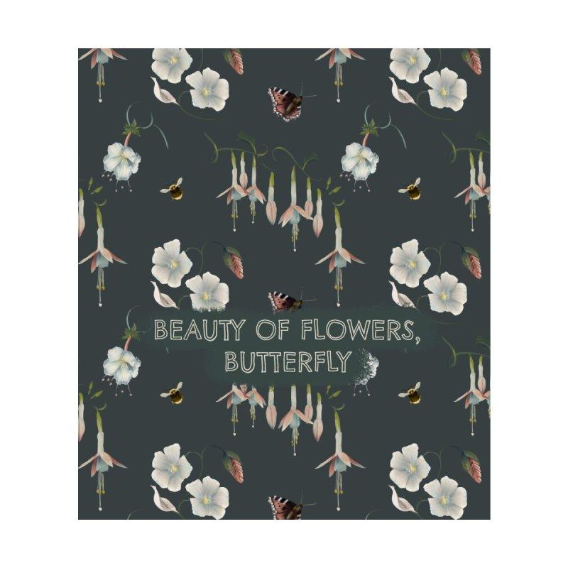 Beauty of flowers, butterfly Accessories Neck Gaiter by Kreativkollektiv designs