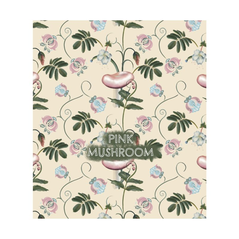 Pink mushroom Accessories Bag by Kreativkollektiv designs