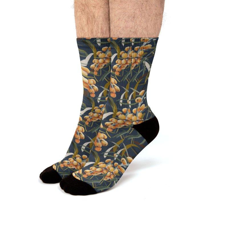 Sanddorn Men's Socks by Kreativkollektiv designs