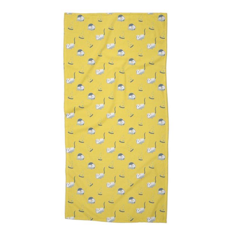 Mice and cheese Accessories Beach Towel by Kreativkollektiv designs