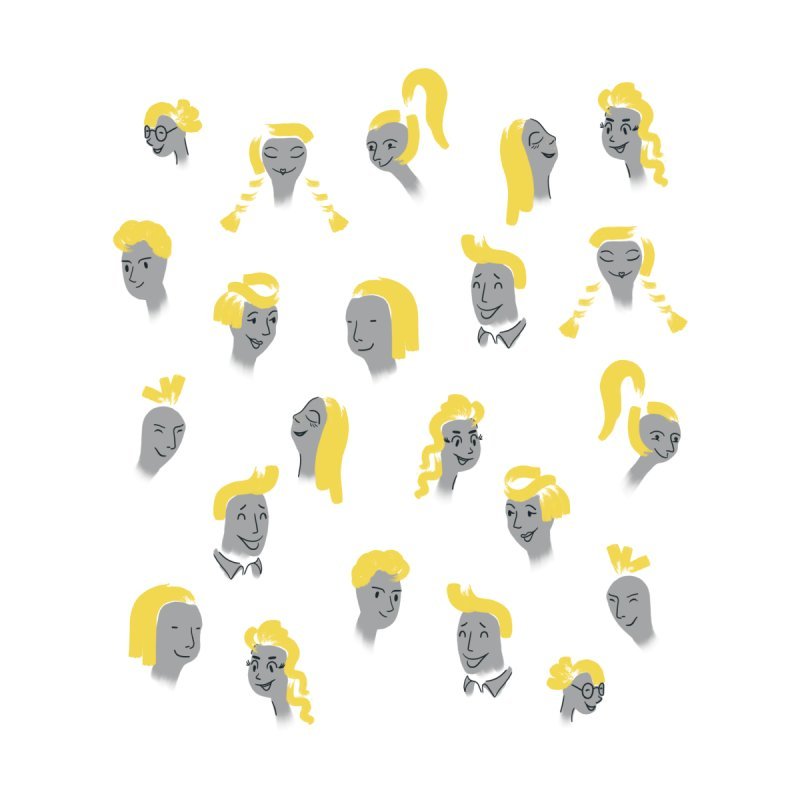 Happy faces, positivity Men's Socks by Kreativkollektiv designs