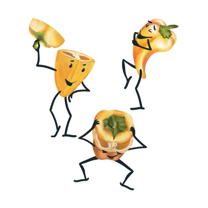 Three funny yellow peppers Men's Longsleeve T-Shirt by Kreativkollektiv designs