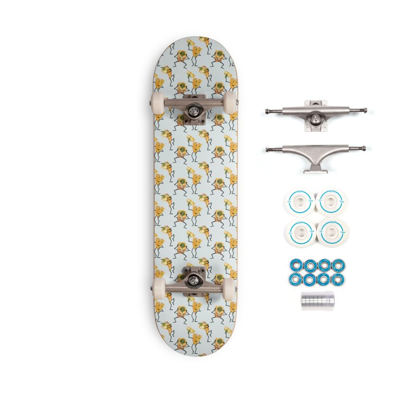 Three funny yellow peppers Accessories Skateboard by KreativkDesigns Artist shop