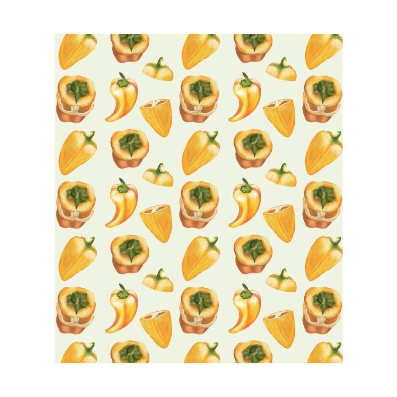 Healthy yellow pepper Accessories Zip Pouch by Kreativkollektiv designs