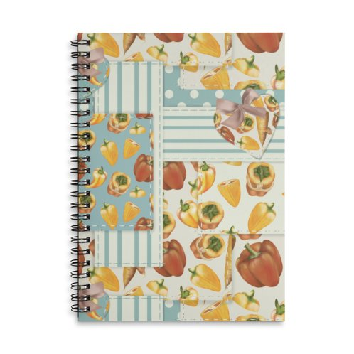 image for Cute patchwork with red and yellow veggies